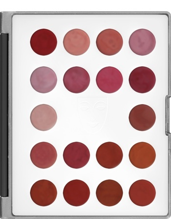 KRYOLAN-LIP ROUGE MINI-PALETTE 18 COLORS / SZMINKI DO UST / LCP