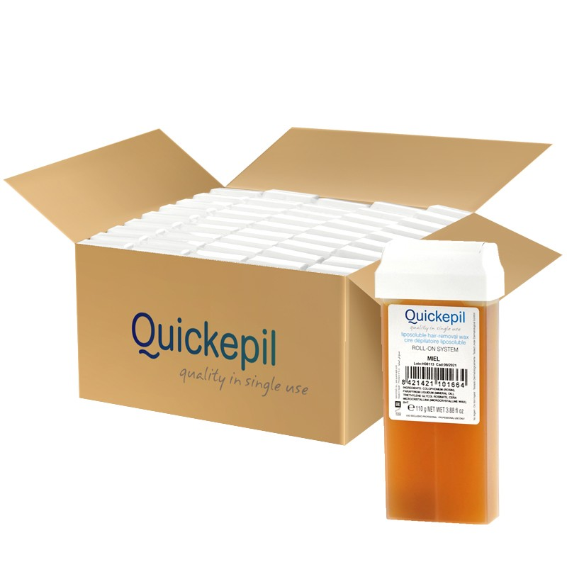 QUICKEPIL 50 SZT. WOSK DO DEPILACJI ROLKA NATURAL 110g